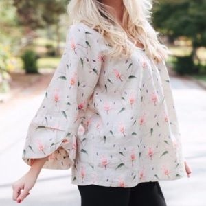 HD in Paris Anthropologie Rosemallow smock blouse
